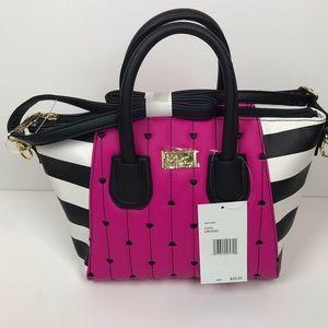 Betsey Johnson Bags - Betsey Johnson hot pink heart quilt handbag